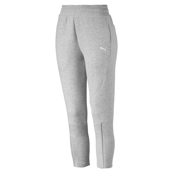 EVOSTRIPE Move Women's Pants, Light Gray Heather, large