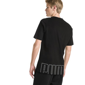 Thumbnail 2 van Modern sportshirt voor mannen, Cotton Black, medium