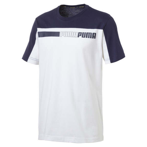 Modern Sports Advanced Men's Tee, Puma White-Peacoat, large