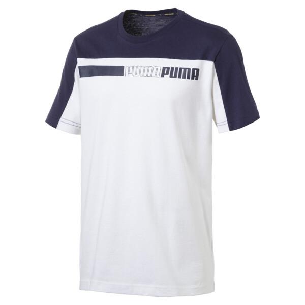 Modern Sports Tee, Puma White-Peacoat, large