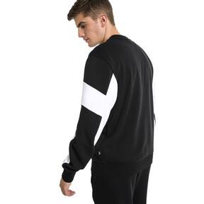 Thumbnail 2 of Rebel Crew Neck Men's Sweater, Cotton Black, medium