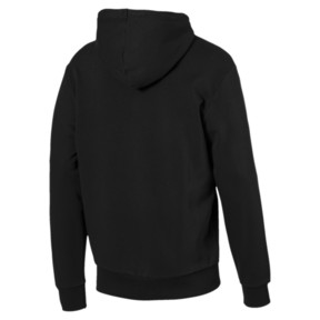 Thumbnail 5 of Rebel Men's Hoodie, Cotton Black, medium