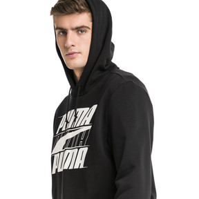 Thumbnail 1 of Rebel Men's Hoodie, Cotton Black, medium