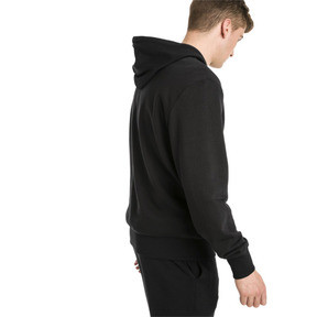 Thumbnail 2 of Rebel Men's Hoodie, Cotton Black, medium