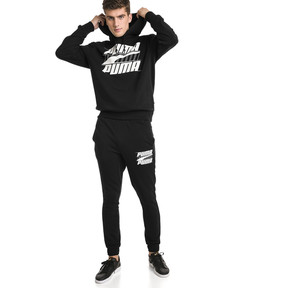 Thumbnail 3 of Rebel Men's Hoodie, Cotton Black, medium