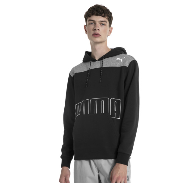 Modern Sports Men's Fleece Hoodie, Puma Black, large
