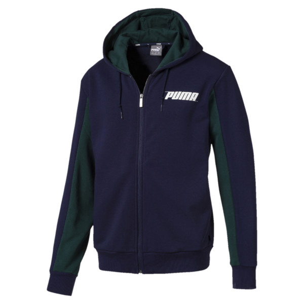 Rebel Hooded Jacket, Peacoat, large