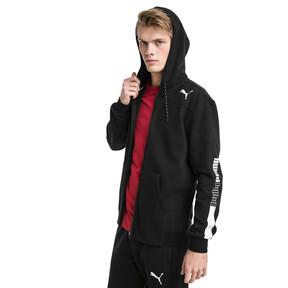 Thumbnail 1 of Modern Sports Hooded Fleece Men's Sweat Jacket, Puma Black, medium