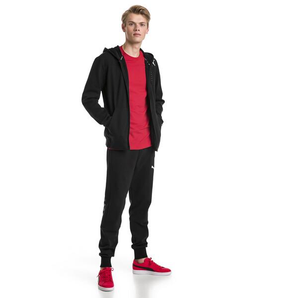 Modern Sports Hooded Fleece Men's Sweat Jacket, Puma Black, large
