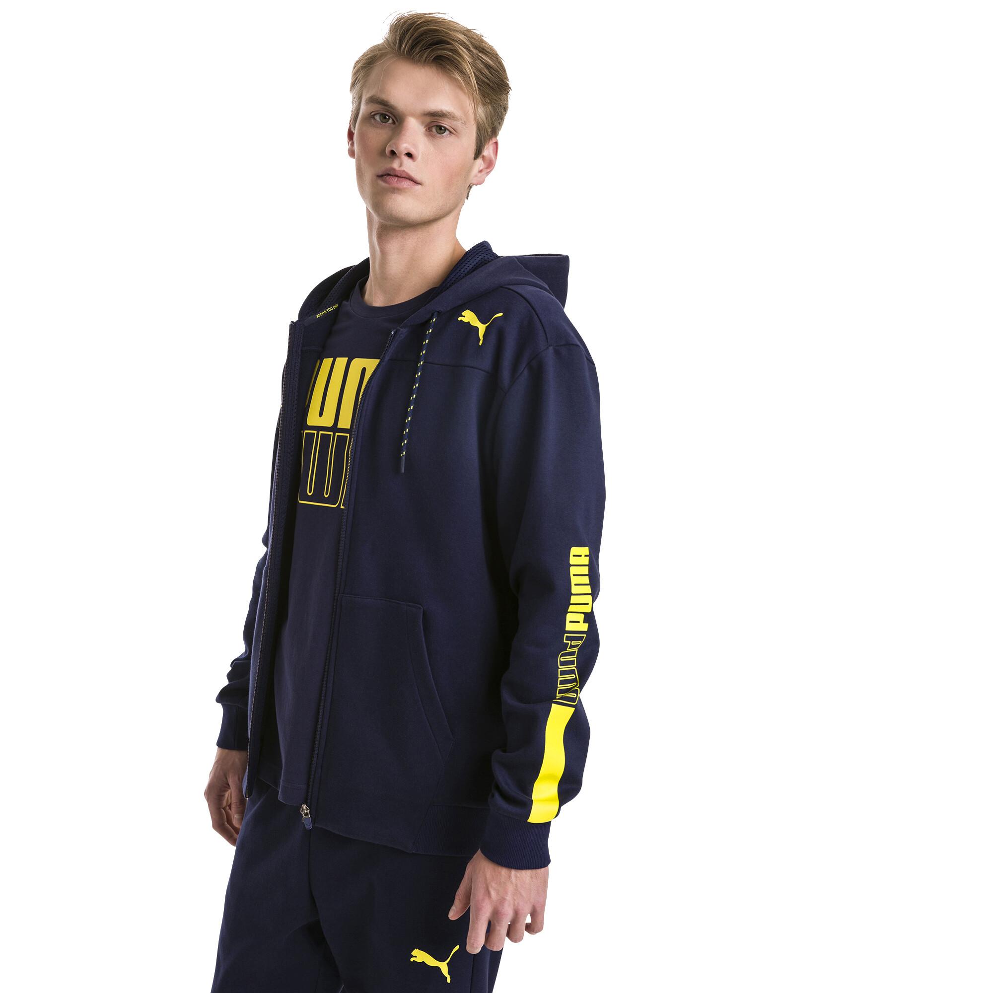 Image Puma Modern Sports Hooded Fleece Men's Sweat Jacket #1