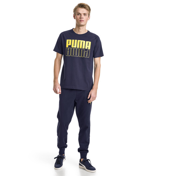 Modern Sports Fleece Men's Pants, Peacoat, large