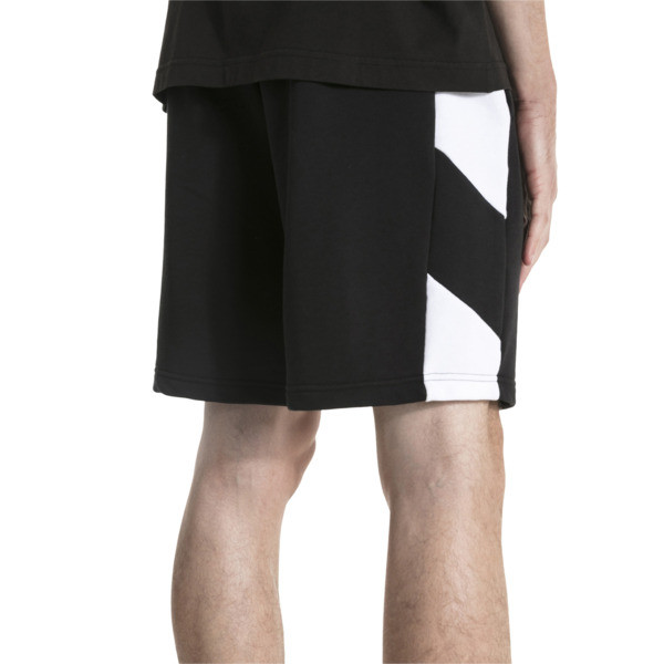 "Rebel 9"" Men's Shorts, Cotton Black, large"
