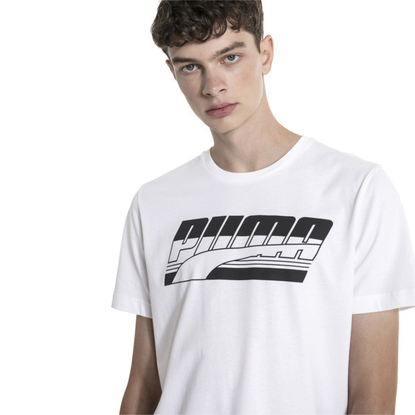 Rebel Men's Tee, Puma White, large
