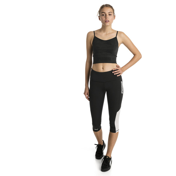 Top corto sin costuras de mujer evoKNIT, Puma Black, grande