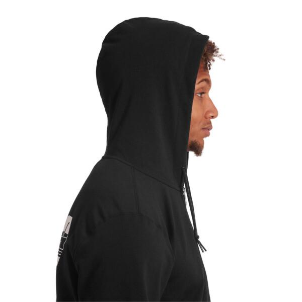 Rebel Men's Hooded Jacket, Cotton Black, large