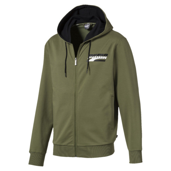 Rebel Men's Hooded Jacket, Olivine, large