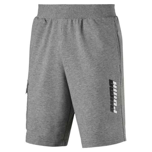 "Rebel Men's 9"" Shorts, Medium Gray Heather, large"