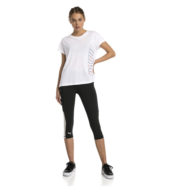 Modern Sports Graphic Women's Tee, Puma White, large