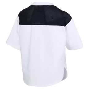 Thumbnail 5 of Modern Sports Cropped Women's Sweat Tee, Puma White-Black, medium