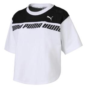 Thumbnail 4 of Modern Sports Sweat Tee, Puma White-Black, medium