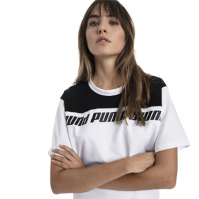 Thumbnail 1 of Modern Sports Cropped Women's Sweat Tee, Puma White-Black, medium