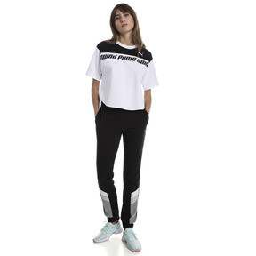 Thumbnail 3 of Modern Sports Cropped Women's Sweat Tee, Puma White-Black, medium