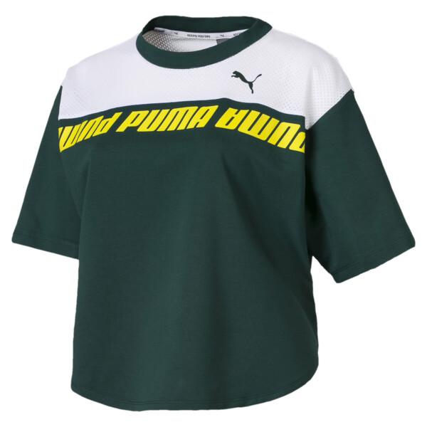 Modern Sports Cropped Women's Sweat Tee, Ponderosa Pine, large
