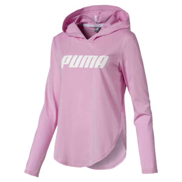 Modern Sports Light Cover-Up Women's Hoodie, Pale Pink, large