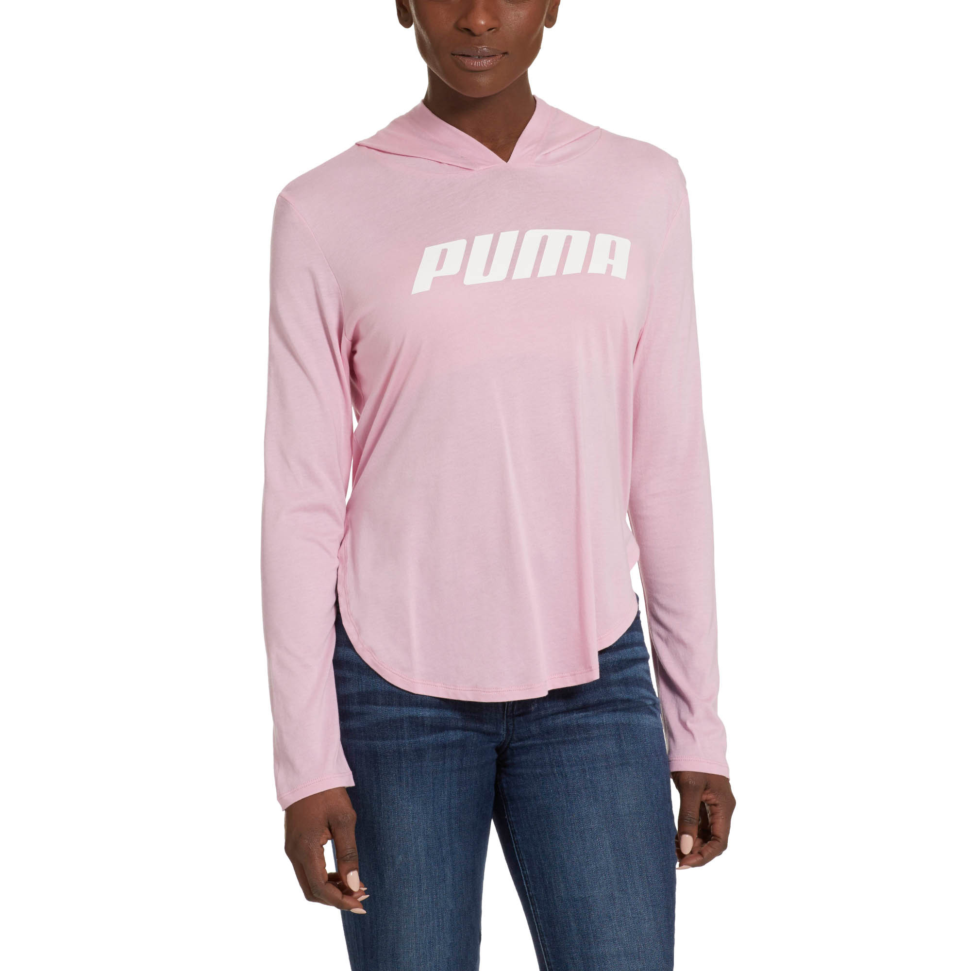 PUMA-Modern-Sports-Light-Cover-up-Women-Tee-Basics thumbnail 4
