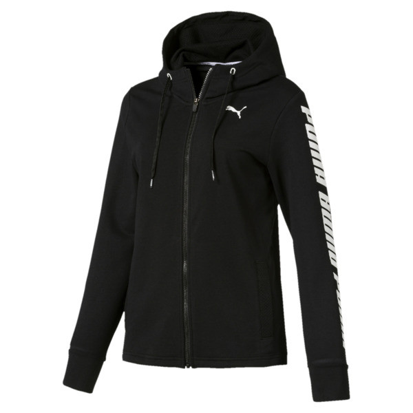 Modern Sports Women's Hooded Jacket, Cotton Black, large