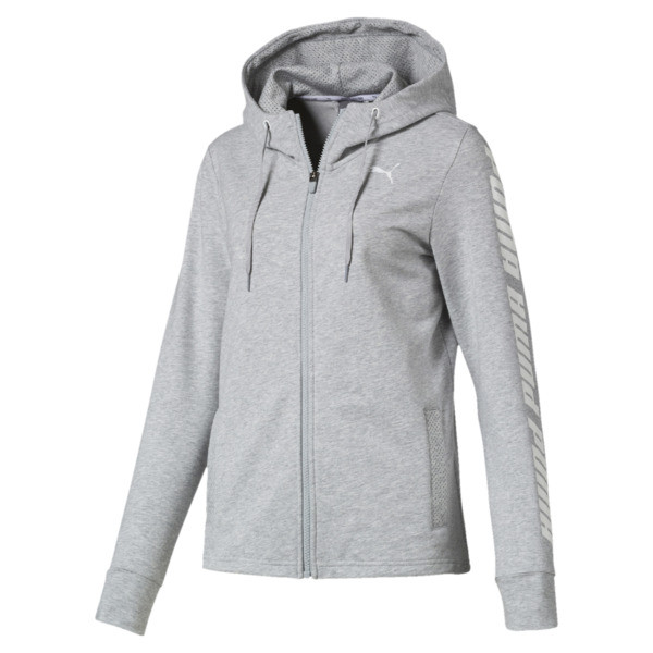 Modern Sports Women's Hooded Jacket, Light Gray Heather, large