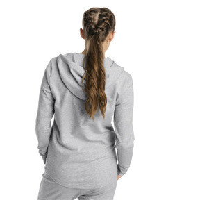 Thumbnail 2 of Modern Sports Women's Hooded Jacket, Light Gray Heather, medium