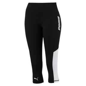 Thumbnail 4 of Modern Sports Women's 3/4 Leggings, Puma Black-white, medium