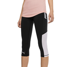 Thumbnail 1 of Modern Sports Women's 3/4 Leggings, Puma Black-white, medium
