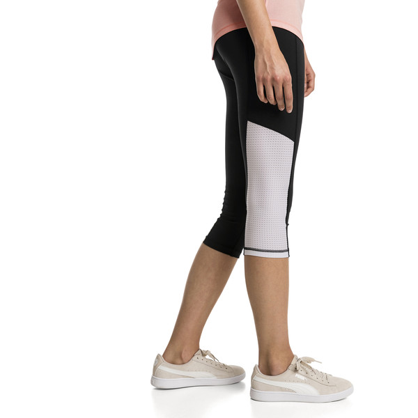Modern Sports Women's 3/4 Leggings, Puma Black-white, large