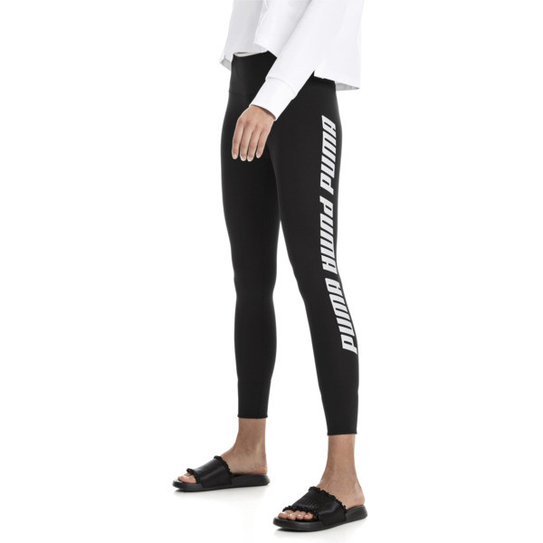 Leggings con vuelta de mujer Modern Sports, Puma Black-white, grande
