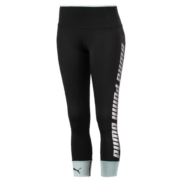 89eb6482a52b8 Modern Sports Fold Up Women's Leggings, Puma Black-fair aqua silver, large