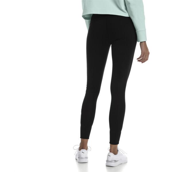 Modern Sports Fold Up Women's Leggings, Puma Black-fair aqua silver, large
