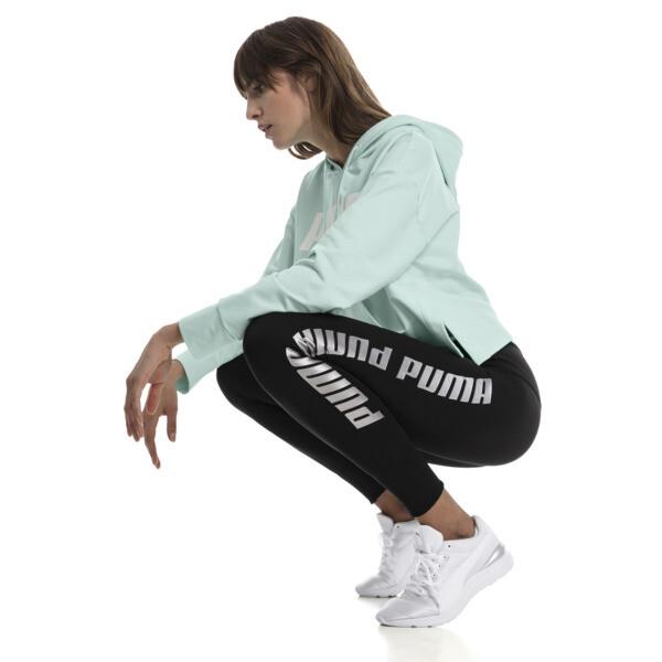 Leggings con vuelta de mujer Modern Sports, Puma Black-fair aqua silver, grande