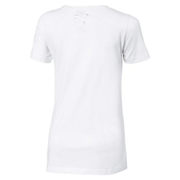 Alpha Logo Mädchen T-Shirt, Puma White, large