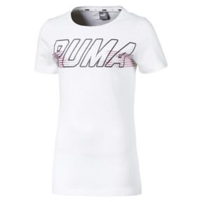 Thumbnail 1 of Alpha Logo Mädchen T-Shirt, Puma White, medium
