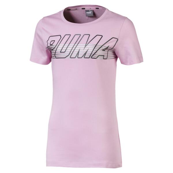 Alpha Logo Girls' Tee, Pale Pink, large