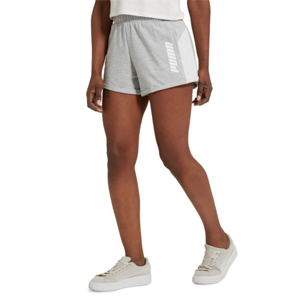 Modern Sports Women's Shorts, Light Gray Heather, large