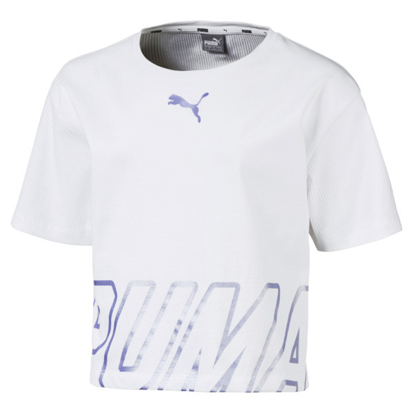 Alpha Girls' Tee, Puma White, large