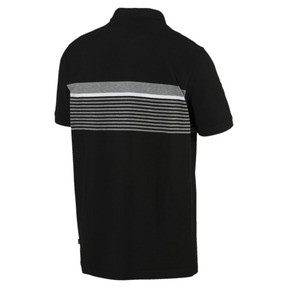 Thumbnail 3 of ESS+ Striped Men's Polo, Cotton Black, medium