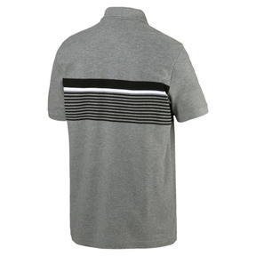 Miniatura 2 de Camiseta tipo polo ESS+ Striped para hombre, Medium Gray Heather, mediano