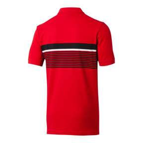 Thumbnail 3 of ESS+ Striped Men's Polo, High Risk Red, medium