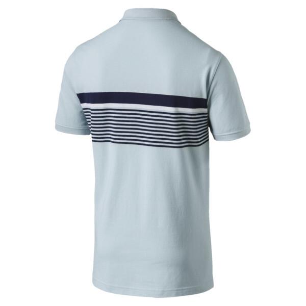 ESS+ Striped Men's Polo, Light Sky, large