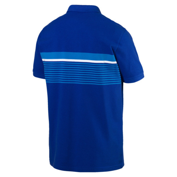 ESS+ Striped Men's Polo, Surf The Web, large