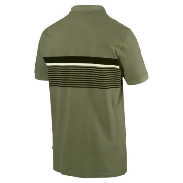 ESS+ Striped Men's Polo, Olivine, large